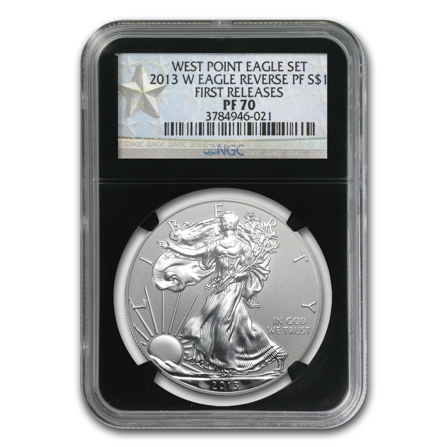 2013- Reverse Proof Silver Eagle Pf-70 Ngc