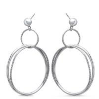 Sterling Silver Polished & Textured Dangle Hoop Earrings ...