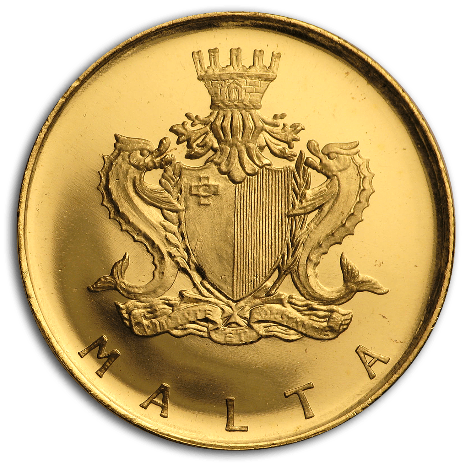 1974 Malta Gold 20 Pounds Gozo Boat BU Coin For Sale | Gold Coins from Malta | APMEX Not Specified