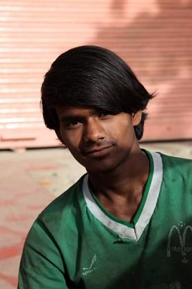 Portrait d'un jeune homme handicapé - Jaipur, Inde 2012