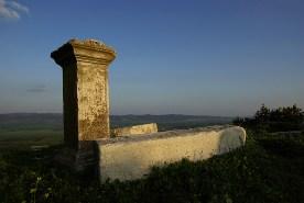 Stèle funéraire Romaine, site antique de Dougga - Tunisie 2009
