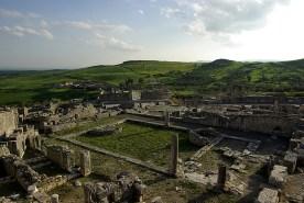 Les thermes liciniens, site antique de Dougga - Tunisie 2009
