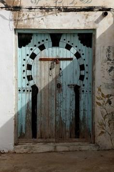Porte traditionnelle Tunisienne, El Haouaria - Tunisie 2012
