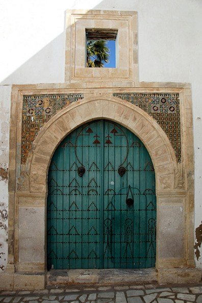 Porte traditionnelle de la Medina de Sousse - Tunisie 2012