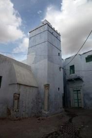 Colonnes recyclées dans les constructions de la médina, Kairouan - Tunisie 2012