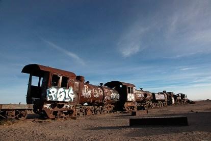 Le cimetière de trains d'Uyuni, Bolivie - 2014 - photo 19