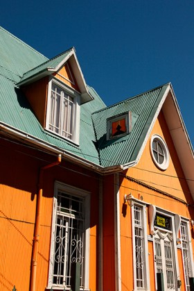 Maisons colorées, Valparaiso, Chili - 2014, photo 04