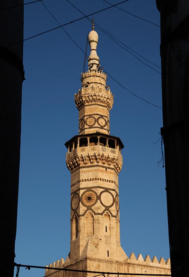 Minaret de la mosquée des Omeyades - Damas, Syrie, 2010