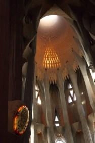 Sagrada Familia, la voute centrale, Barcelone - 2015