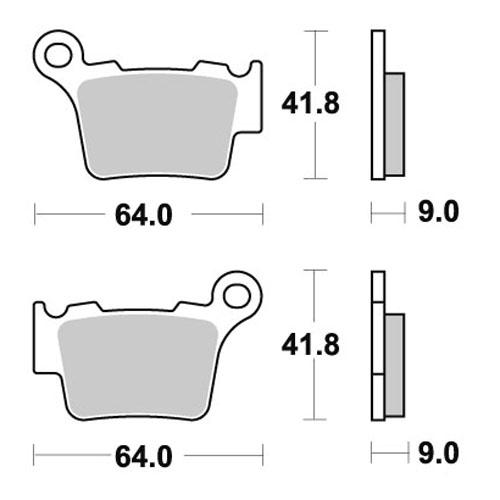 Pastiglie freno anteriore per Ktm EXC EXCF SX SXF 125 150
