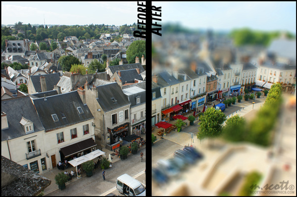Before/After Tilt-Shift Miniature Effect