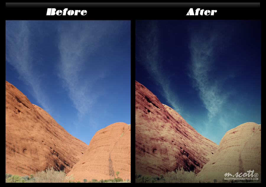 Before and After - Lomo Effect in GIMP