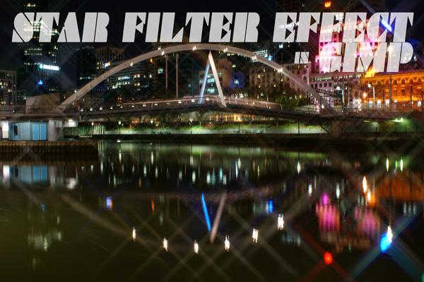 Star Filter Effect in GIMP