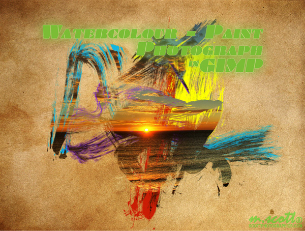 Watercolor - Paint Photograph in GIMP