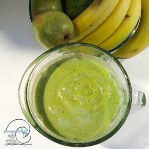 Green, smoothie, ingridients, avocado, pear, kiwi