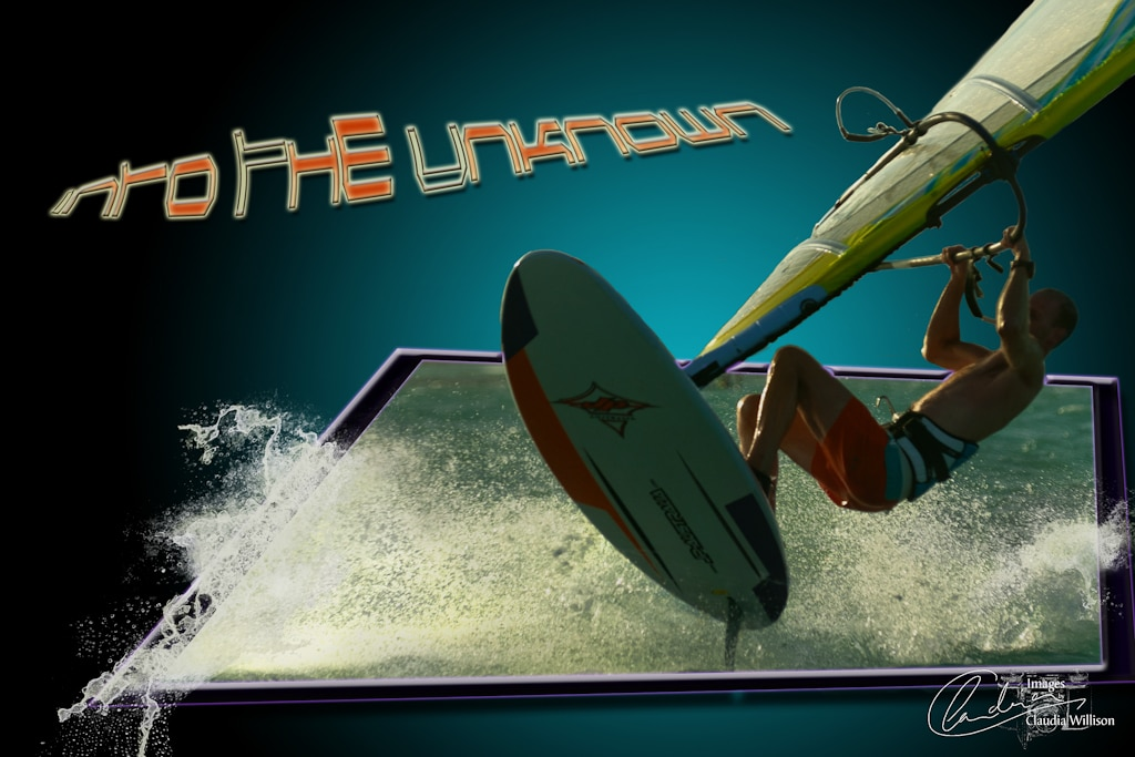 windsurfing, freestyle, jump, photoshop