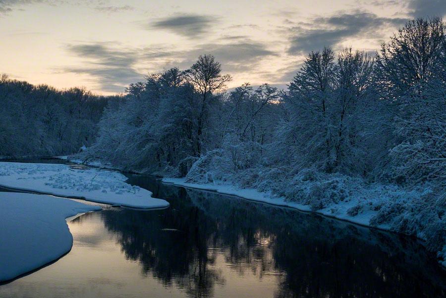 sunset, winter, nj