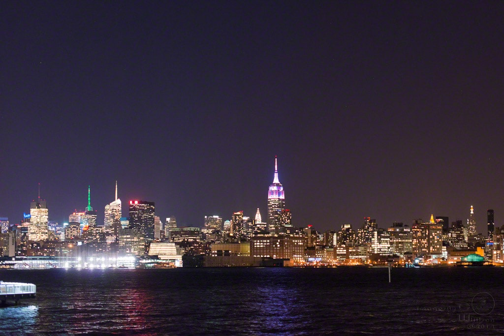 nyc, skyline, hoboken, empire state building, chrysler building
