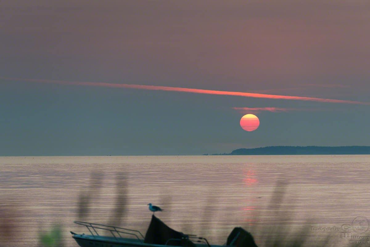 1st sunset over Birch Bay WA