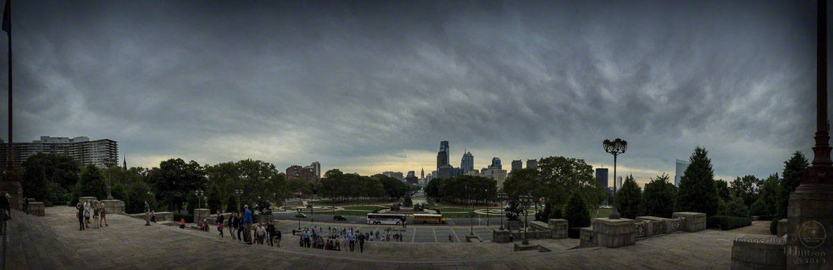 Philadelphia Museum of Art, iphone, panorama
