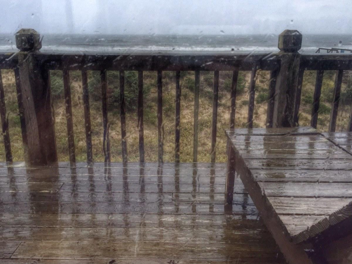 window, rain, ocean