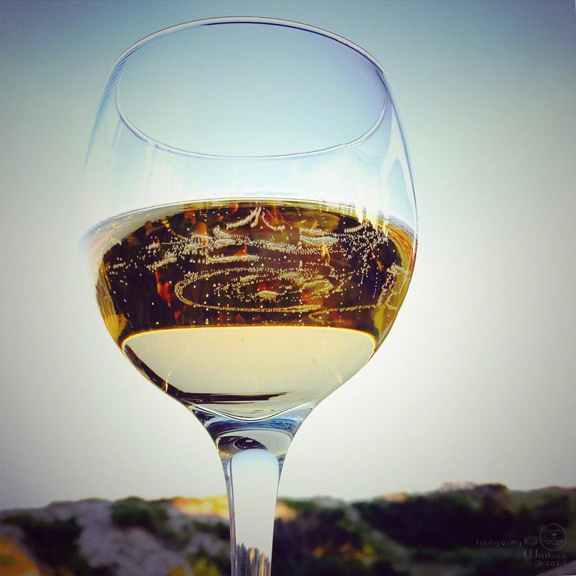 glass, white, wine