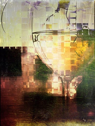 wine, glass, abstract
