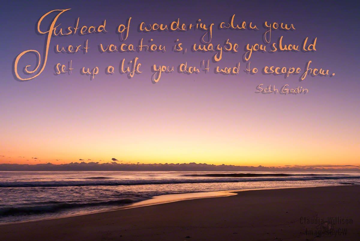 quote, godin, sunrise, ocean