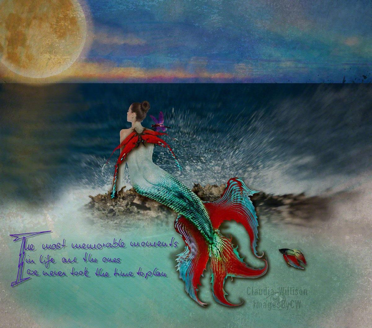 quote, mermaid, moments