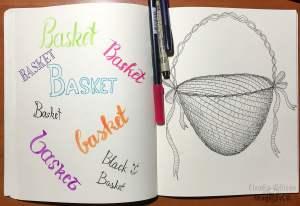 basket, illustration