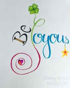 lettering, joyous