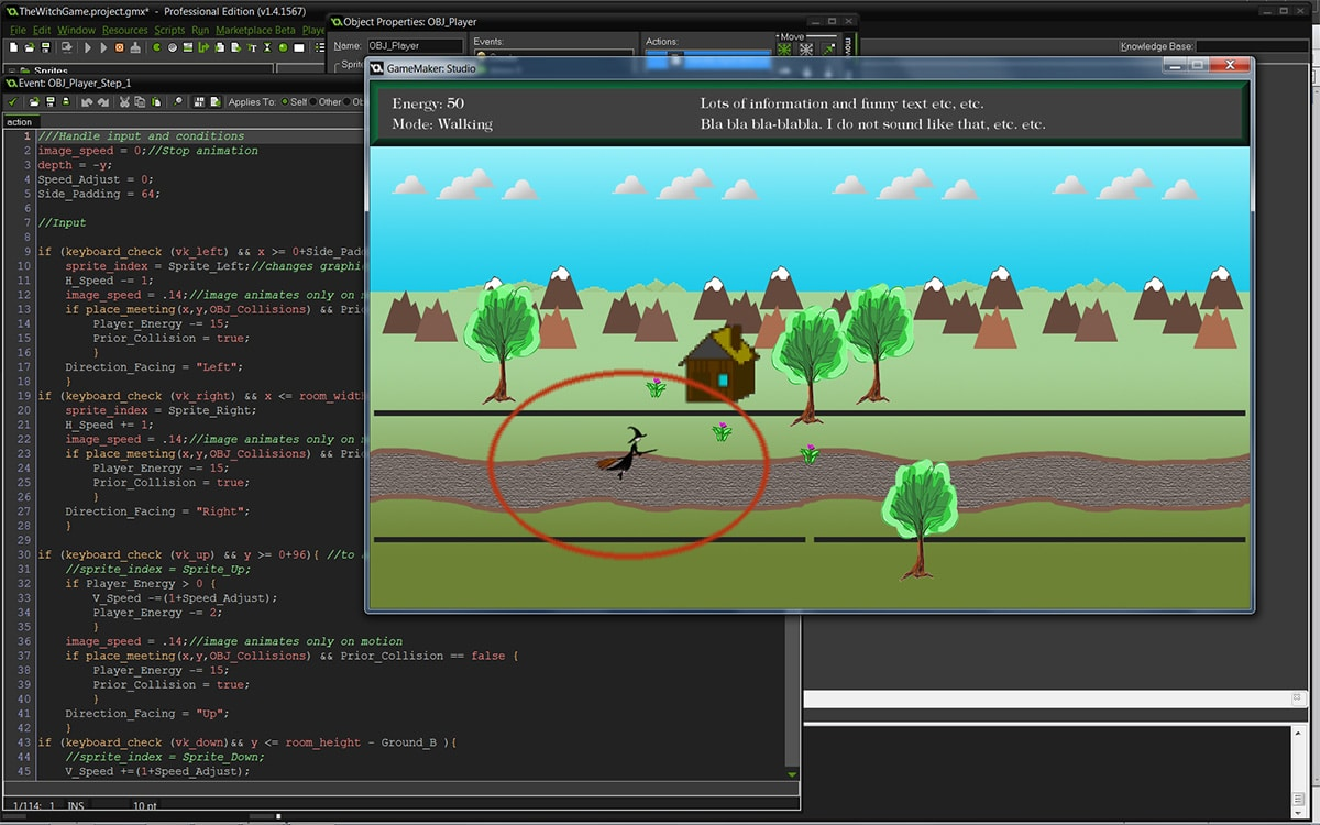 witch, game, developement