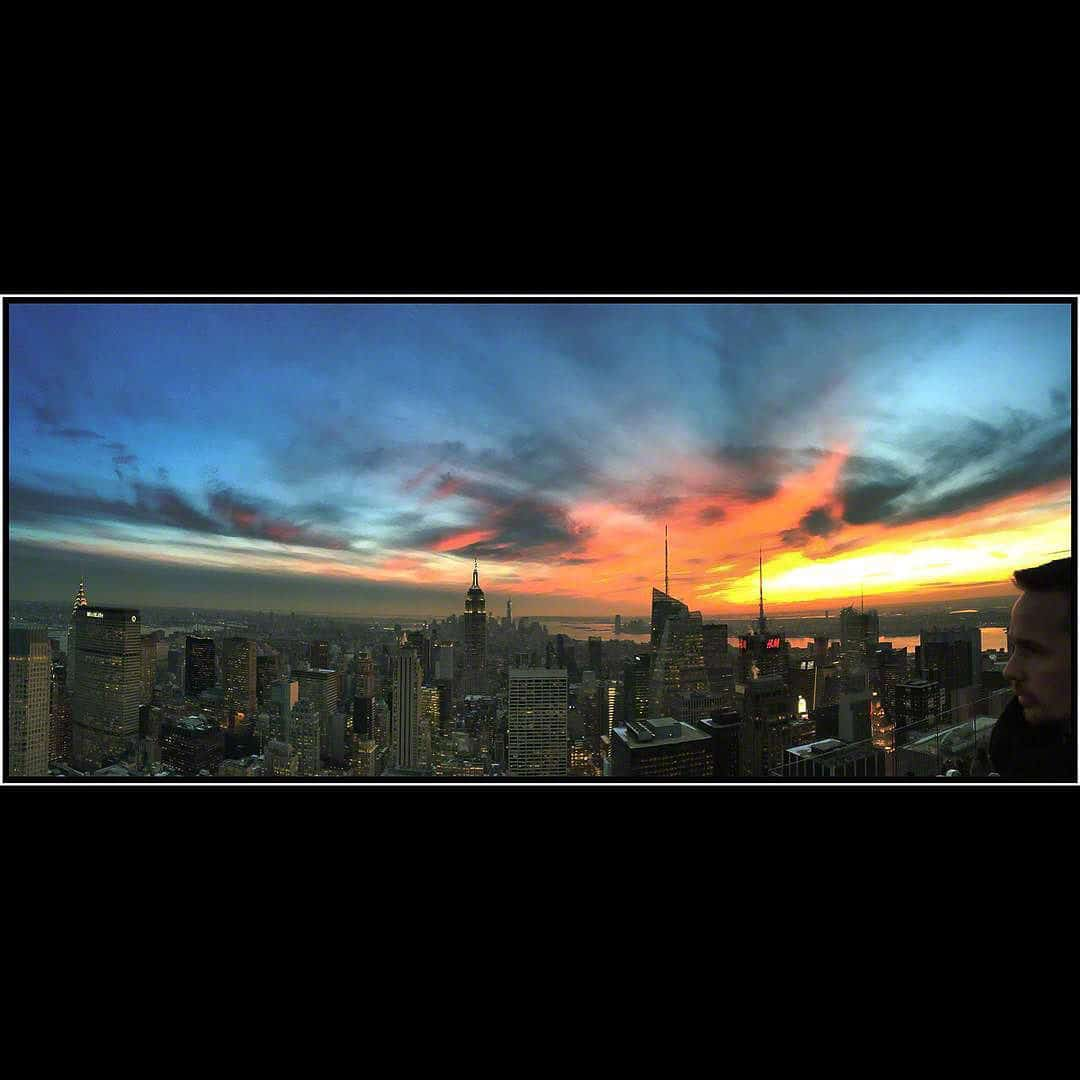 NYC sunset-2