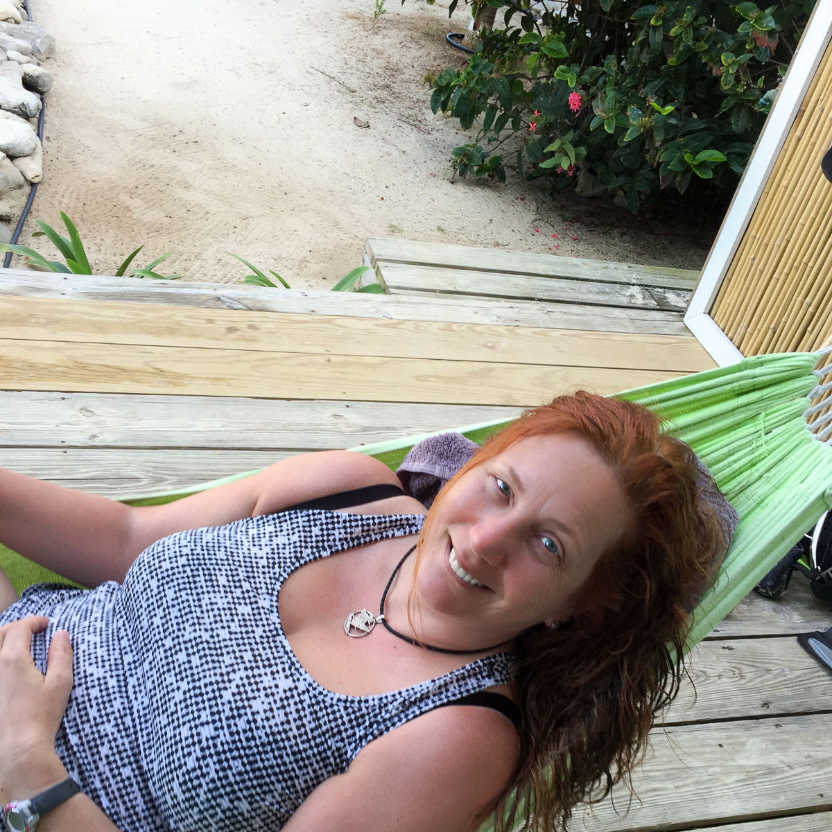 hammock, smile