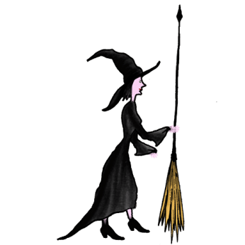 game, witch, drawing