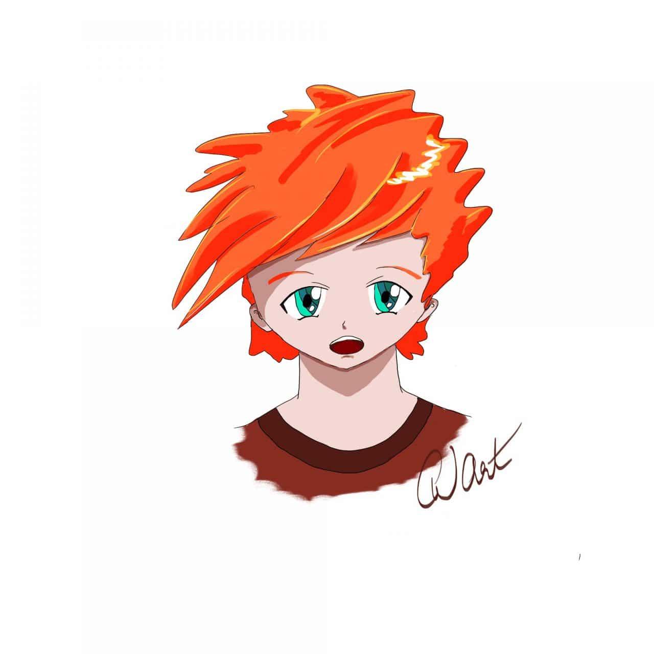 redhead, manga