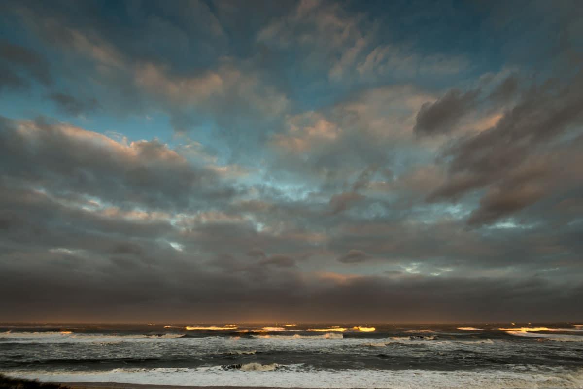 obx, sunset, ocean