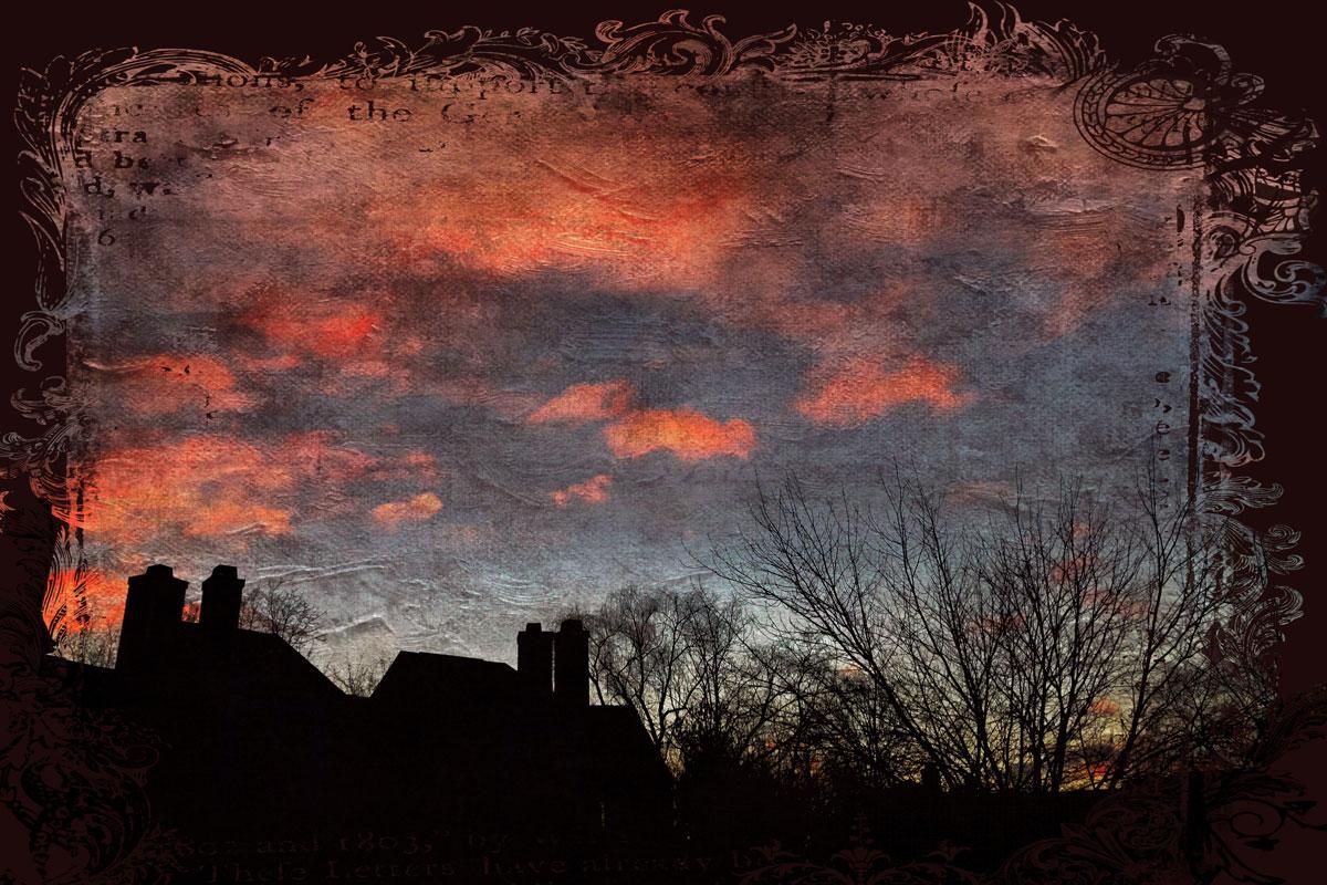 sunrise, grunge, texture