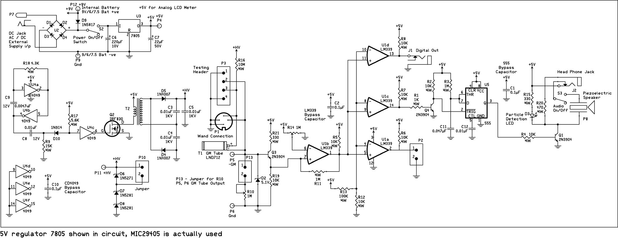 Geiger Counter Schematics