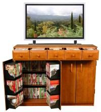 CD DVD Storage Cabinet Rack / TV Stand w/ Drawers NEW | eBay