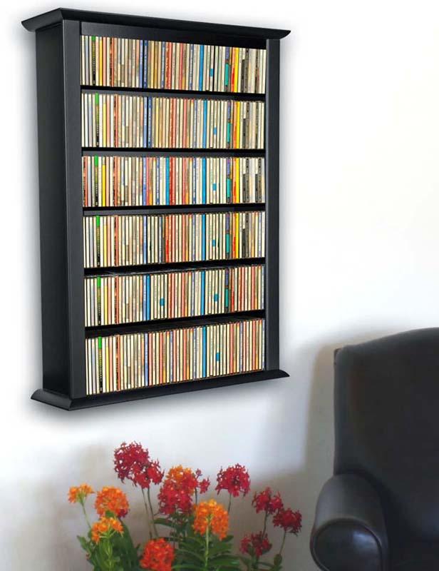 Wall Mount CD DVD Storage Rack 342 CD 160 DVD