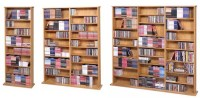 500 CD 204 DVD Oak Veneer CD DVD Storage Wall Rack NEW | eBay