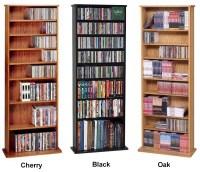 500 CD 204 DVD Oak Veneer CD DVD Storage Wall Rack NEW   eBay