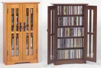 Glass Door Wall Mount Cabinet Rack 190 CD 78 DVD NEW