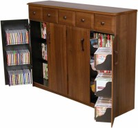CD DVD Storage Cabinet Rack / TV Stand w/ Drawers NEW