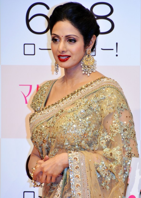 "TOKYO, JAPAN - MAY 29:  (CHINA OUT) Bollywood actress Sridevi attends a press conference as she promotes film ""English Vinglish"" on May 29, 2014 in Tokyo, Japan.  (Photo by ChinaFotoPress/ChinaFotoPress via Getty Images)"