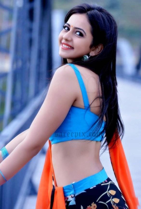 Rakul-Preet-Singh-side-view-Pandaga-chesko-movie