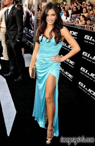 awesome looks jenna dewan in blue color long sleeveless dress