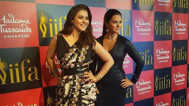 Kajol at the unveleing of her wax statue at Madame Tussauds, Singapore, Image Courtesy: Instagram