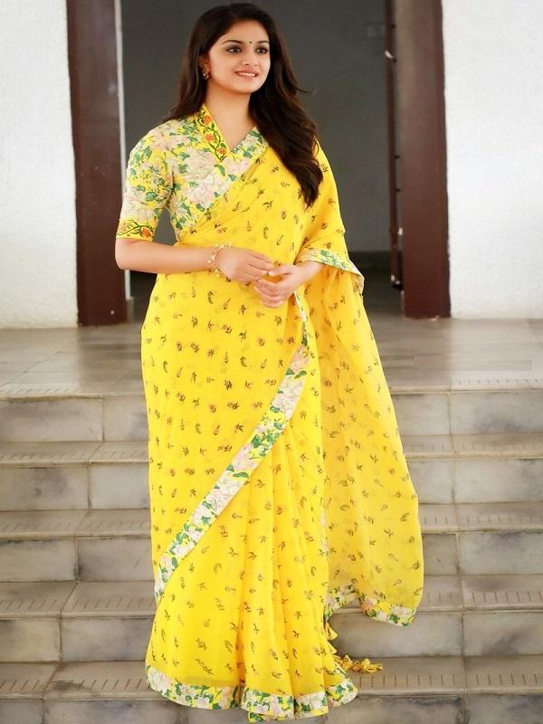 keerthi-suresh-latest-saree-images